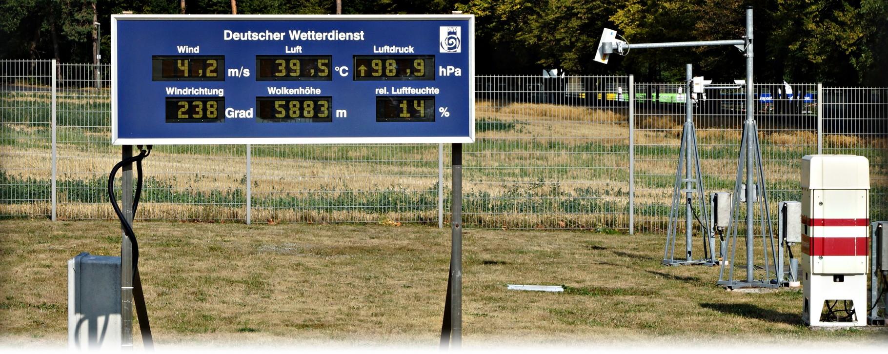 Extreme Hitze bei Temperaturen von über 39°C im Rhein-Main-Gebiet am 07.08.2015. | Bildquelle: Denny Karran