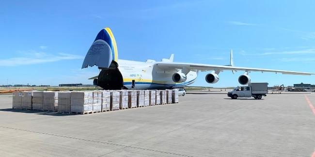 The AN-225 being unloaded in Windhoek, Namibia. Image: Antonov Airlines