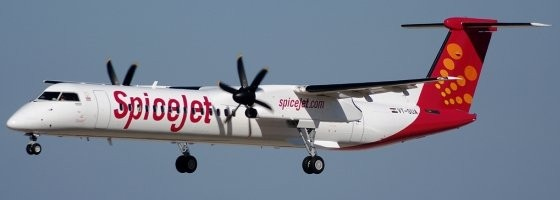 SpiceJet's fleet of Q400's could be used for night-time 'cargo-on-seats' freighter services
