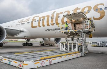 Emirates transported essential supplies to Kenya recently. Image: Emirates