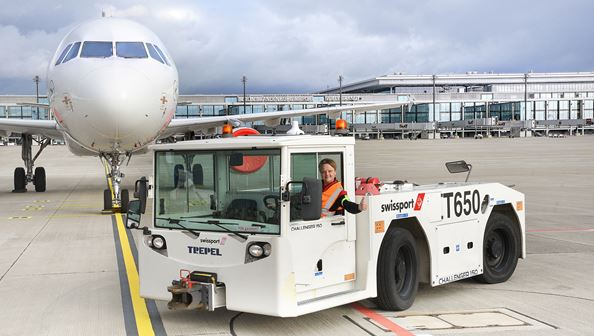 At long last… BER opens for business. Image: Swissport