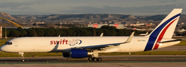Coyne Airways utilizes capacity provided by Swiftair's B757F  - courtesy planespotters