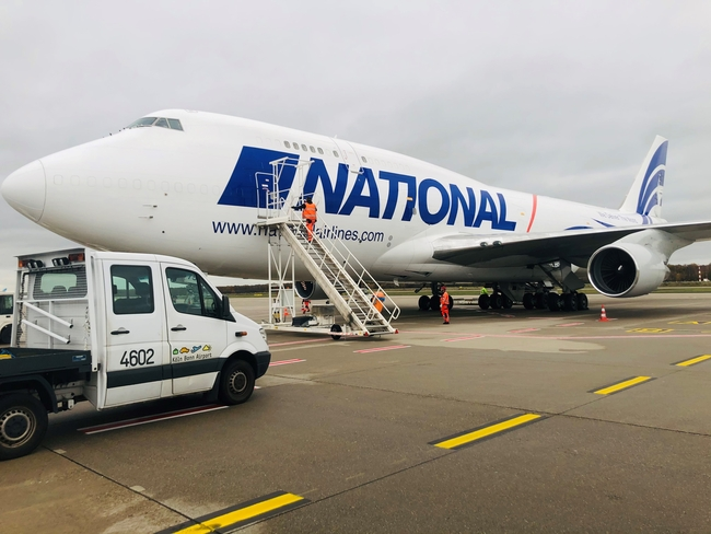 National Airlines is Cologne-Bonn's newest customer  -  photos courtesy of CGN