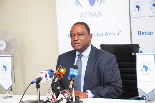AFRAA Secretary General Abdérahmane Berthé's statement contained a passionate plea for the consolidation of African airlines  -  courtesy: AFRAA