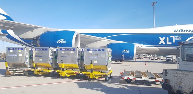 Cool, calm and soon to be collected. Image: AirBridgeCargo
