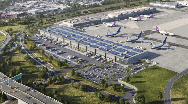 JFK Cargo Rendering Aeroterm Project. Image: Aeroterm