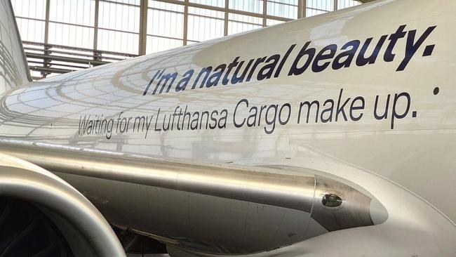 Flying naked and proud. Image Lufthansa Cargo