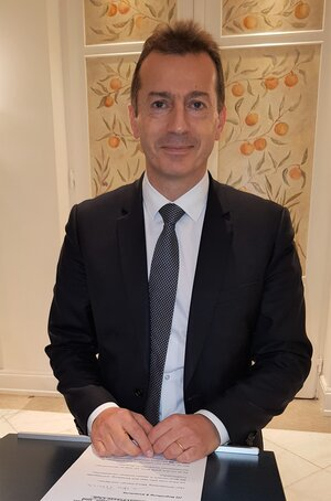 CEO Guillaume Faury of Airbus is happy that his company has become part of Germany's leading stock market index  -  photo: CFG/hs