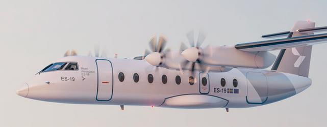 Image of future ES-19 operated by Mesa Air  on behalf of United Airlines  -  courtesy of Mesa Air