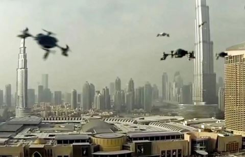 Drones will become a common sight at Dubai city's skies  -  courtesy albawaba