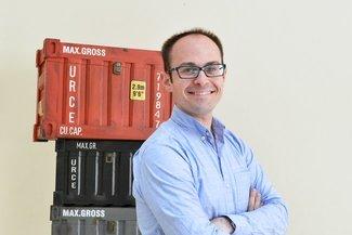 """Eytan Buchman, CMO Freightos: """"We're the Expedia of international freight"""". Image: Freightos"""