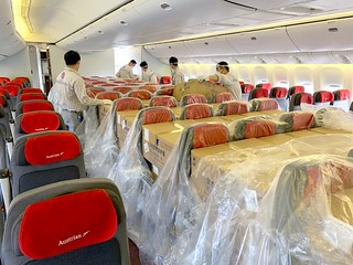Passenger flight used for Medical Relief Supplies from China - (c) Austrian Airlines