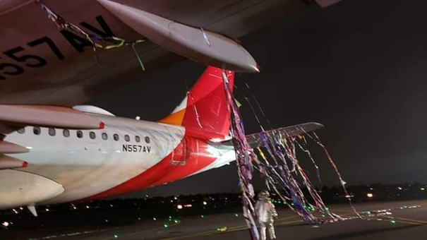 Collision with a pyrotechnic balloon… Image: Avianca