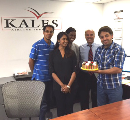 Grew together as a team after only six months (l > r): Azim Ahmad, Alana Rampersad, Ebony Sneed, Shawn Hayat, Zubair Sharif  -  courtesy Kales USA