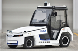 Toyota's autonomous towing tractor. Image: ANA