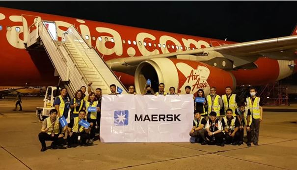 Maersk takes to the air! Image: Maersk