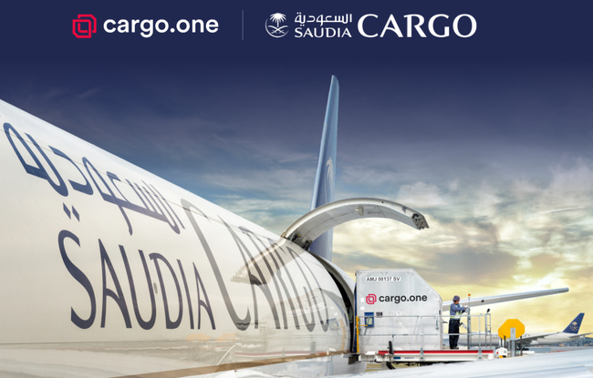 Saudia Cargo expects an increase in volumes thanks to the deal with cargo.one  -  photo: company courtesy
