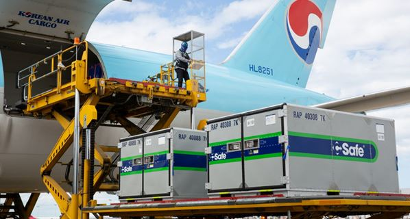 Korean Air Cargo ramping up for vaccine transports. Image: Korean Air Cargo