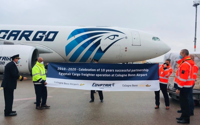 Egyptair Cargo is one of CGN's most loyal customers
