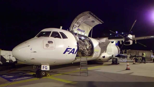 A similar ATR72-200 freighter is ASL UK's first aircraft  -  courtesy Farnair