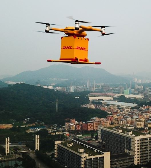 It can be assumed that alike drones will soon be seen often above urban Chinese areas  -  photo: DHL