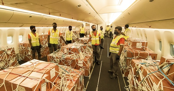 Ready for take-off to Brazil. Image: Etihad Cargo