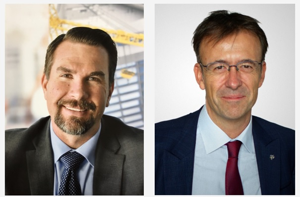 Lionel van der Walt, Global CCO, PayCargo, & Dr Stephane Graber, FIATA DG. Image: PayCargo
