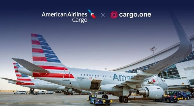 Coming soon to the cargo.one platform: AA flights. Image: cargo.one