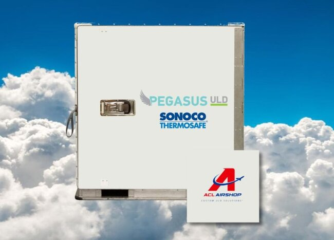 Pegasus being serviced by ACL in future. Image: Sonoco ThermoSafe