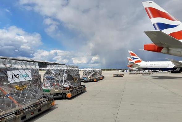 27 tons of medical aid on its way to India. Image: IAG Cargo
