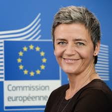 EU Commissioner Margrethe Vestager takes a tough stance on Amazon  -  courtesy EU