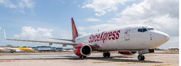 New Singapore-India connection. Image: SpiceJet