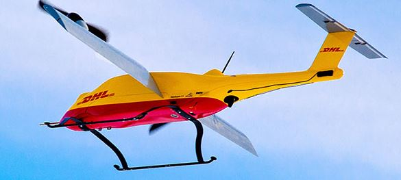 The Parcelcopter: DP/DHL's future aerial courier  -  courtesy DP/DHL