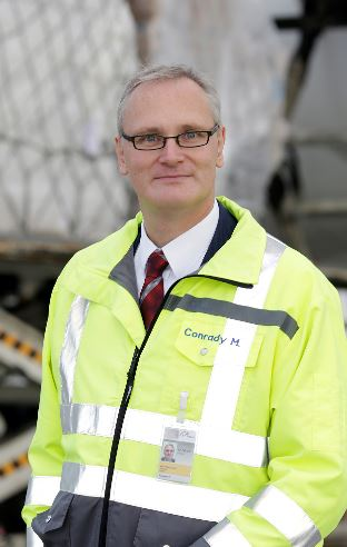 Max Conrady is Head of Cargo Infrastructure and Development at Rhine-Main Airport  -  photo: Fraport AG