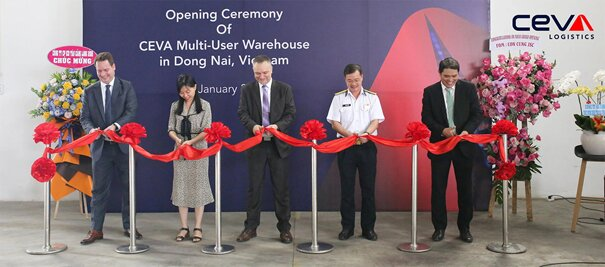 Ribbon-cutting at new CEVA warehouse in Vietnam's Dong Nai Province. Image: CEVA
