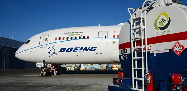 Sustainability centers on people, products and services, operations, and communities - images: Boeing