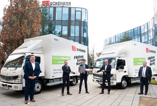 E-powered vehicles instead of Diesel. DB Schenker goes green. Image: company courtesy
