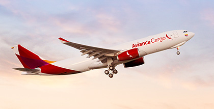 Avianca Cargo, pictured here is one of the carrier's A330 freighters, is increasingly challenged by LATAM Cargo at its home market  -  image courtesy Avianca