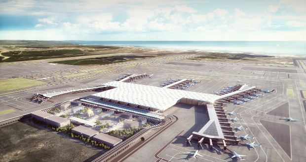 Istanbul's new airport, one of the largest worldwide, was built in a nature reserve.