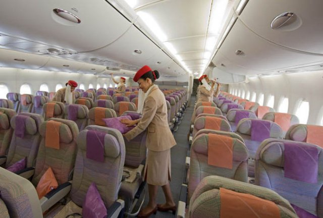 Emirates has a lot of staff, but few passengers booking a flight  - company courtesy