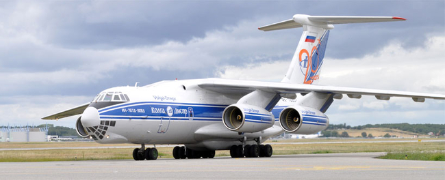 The V-D operated IL-76TD-90VD can carry 50 tons per flight over a distance of 4,000 kilometers  -  photo: company courtesy