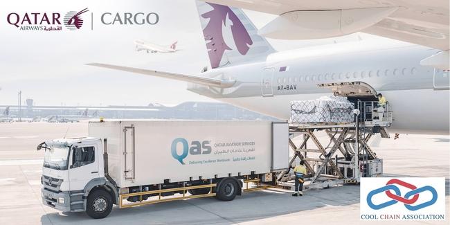 Keeping cool in the desert sun. Image: Qatar Airways Cargo