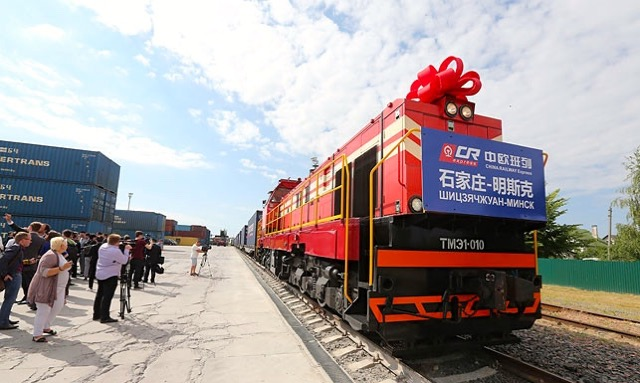 The China-Belarus cargo train will run 4 to 5 times per month