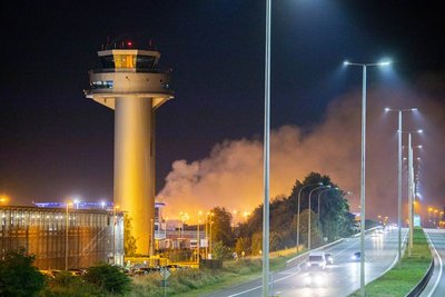 Fire at Liege Airport in the night of 23JUL20 - Image: Belga