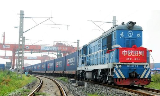 Twice as many freight trains between China and Europe in 2021. Image: Nikkei Asia