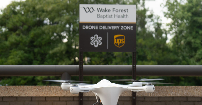 The C-19 vaccine UPS shipments delivered by drone include a temp. monitoring device  -  image: UPS
