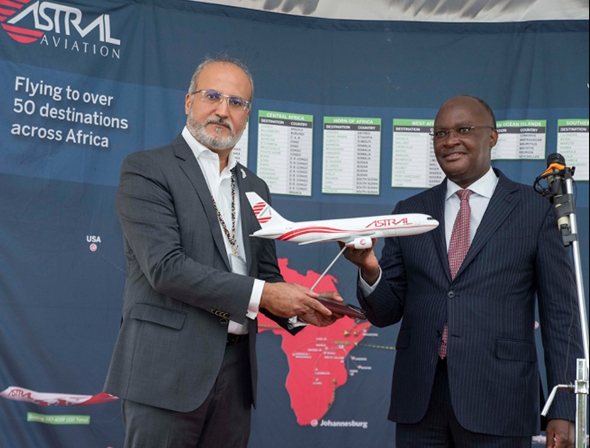 Sending its new B767-200F on vaccine missions across Africa. Image: Astral Aviation