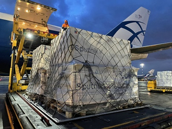 Ensuring the Sputnik vaccines reach their destinations safely and intact. Image: Volga-Dnepr