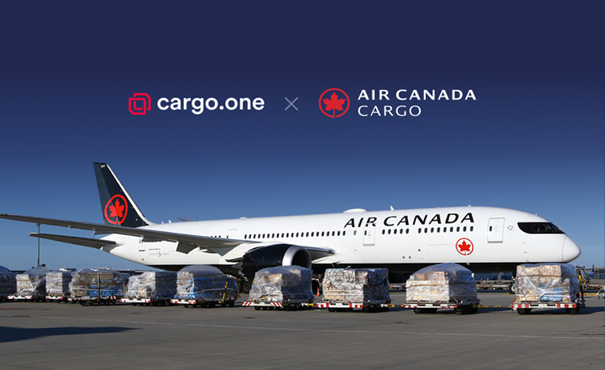 Pioneering cargo.one over in North America. Image: Air Canada