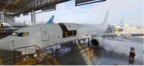 Shiny and new: Gameco's first finished B737-800 BCF. Image: Gameco.com.cn